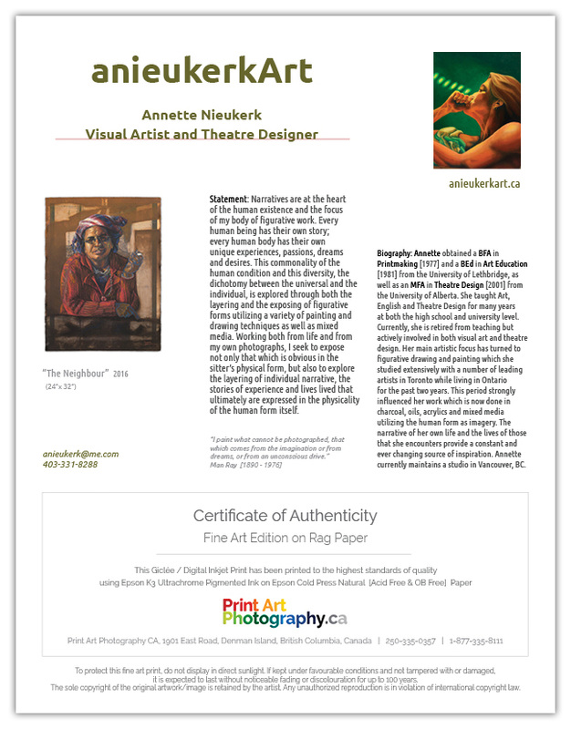 Certificate Of Authenticity Print Art Photography Ca