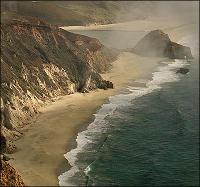 """Fog Bank, Big Sur"", California - Detail"