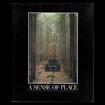 """Forest Fugue"", Nathan Kemp, 1984, Grizedale, front cover of ""A Sense of Place"""