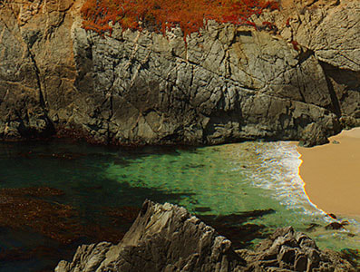 """Small Bay, Big Sur"", California - Detail"