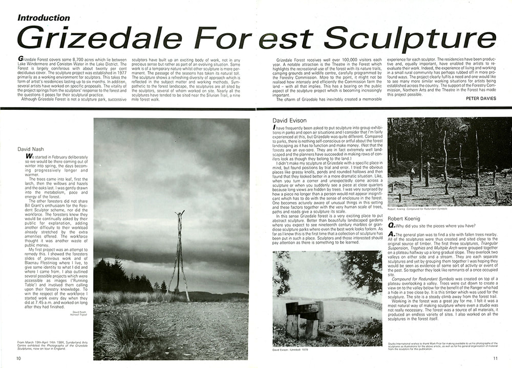 Studio International, Grizedale Article, 1-2